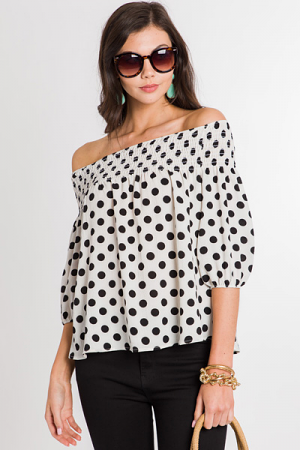 All Dotted Off Shoulder