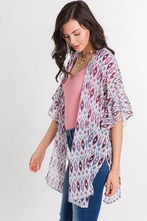 Diamond Chiffon Kimono