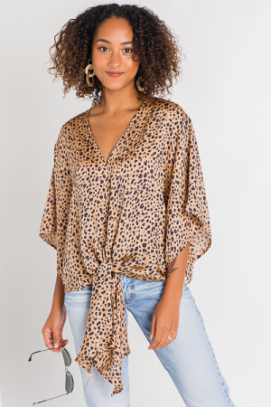 Stacy Spotted Blouse