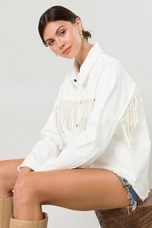 Nashville Fringe Jacket, Off White