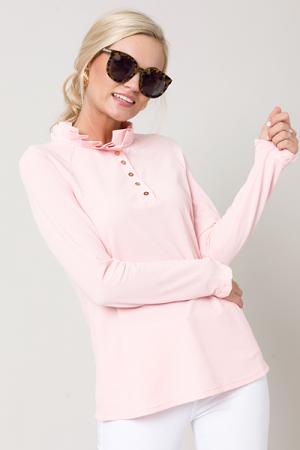 Pleat Collar Pullover, Pink