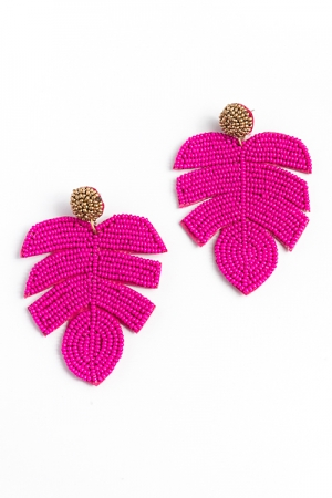 Big Bead Leaf, Fuchsia
