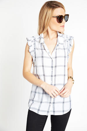 Preppy Plaid Blouse