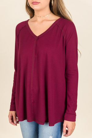 Jay Thermal Tunic, Wine