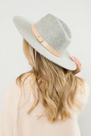 Felt Fedora Hat, Grey