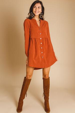 Clay Corduroy Shirt Dress