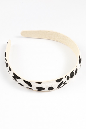 Leather Animal Headband, Ivory