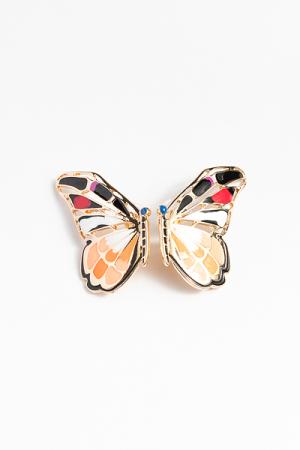 Epoxy Butterfly Earring, Orange