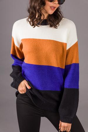 Big Stripes Sweater, Honey Combo