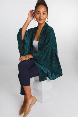 Green Zebra Kimono