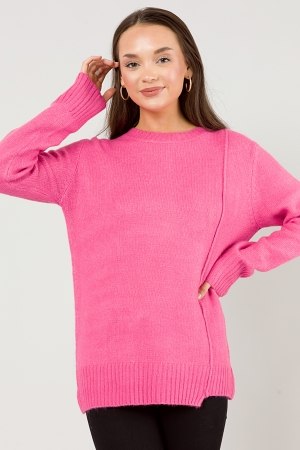 Side Line Sweater, Pink