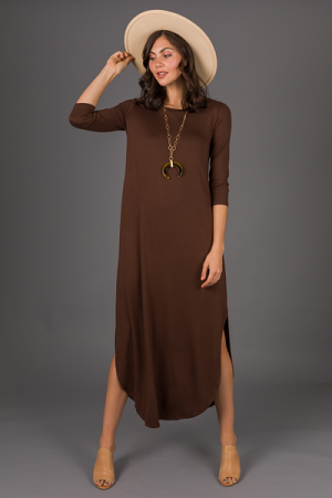 Best Basic Maxi, Solid Brown