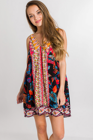 In the Tropics Printed Dress