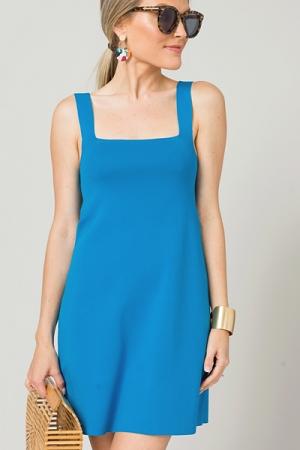Stretch Mini Dress, Blue