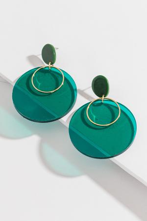 Jade Circle Disc Ear