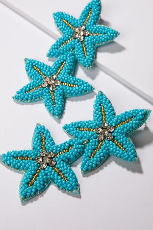 Starfish Earring, Turquoise