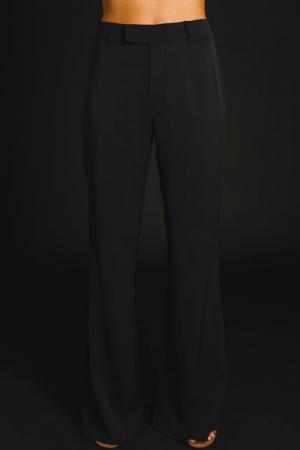 High Waist Flare Pants, Black
