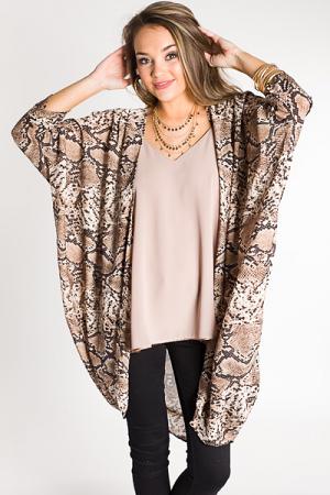 Suzie Snakeskin Kimono
