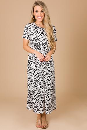Blanket Soft Leopard Midi, Ivory