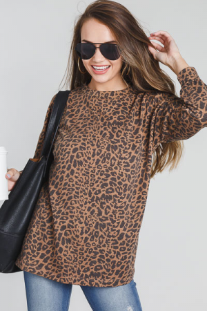 Leopard Print Tunic, Mocha