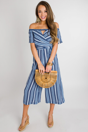 Off Shore Stripe Jumpsuit