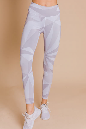 Geometric Leggings, Grey