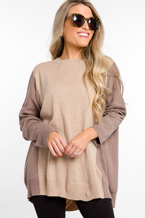 Taupe Sleeves Sweater