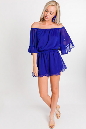 Fashion Fix Romper, Royal