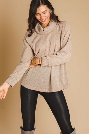 Totally Taupe Cowl Sweater