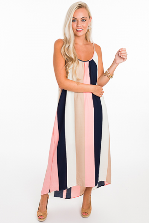Bold Stripes Vertical Maxi