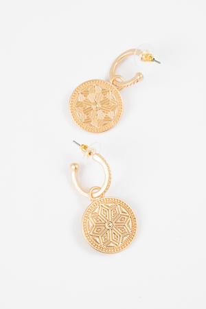 Julie Gold Coin Earring