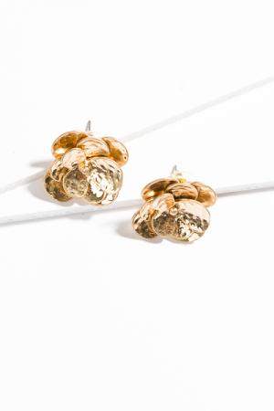Matte Gold Flower Studs