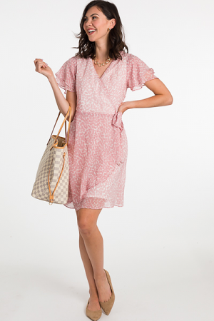 Renee Ruffle Wrap Dress