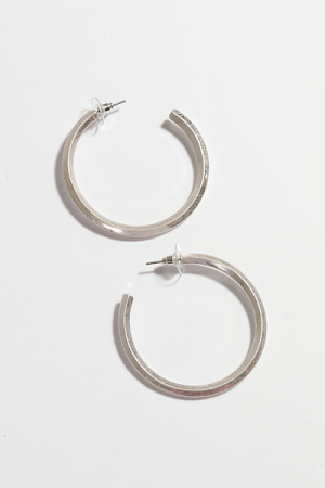Pinched Hoop, Matte Silver