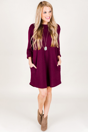 Ali Dress, Burgundy