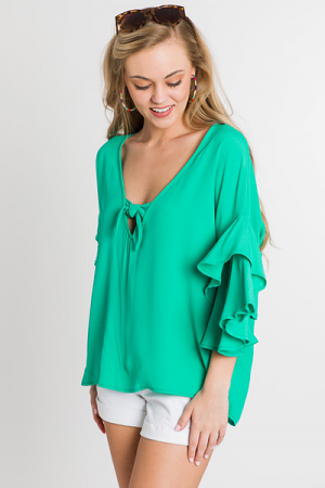 Show Your Bow Blouse, Green