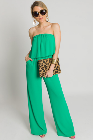Jump on It Jumpsuit, Emerald