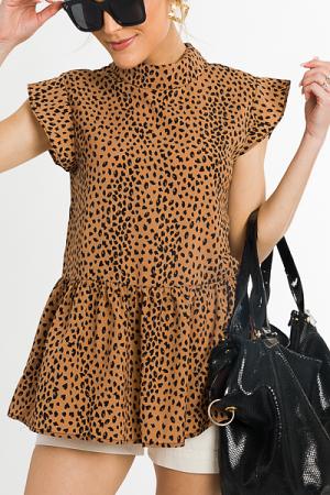 Anna Leopard Blouse
