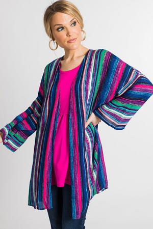 Bold Stripes Kimono