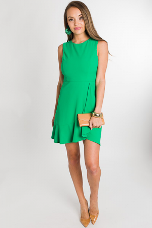 Green Girl Wrap Dress