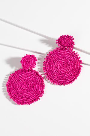 Dolly Discs Earrings, Fuchsia