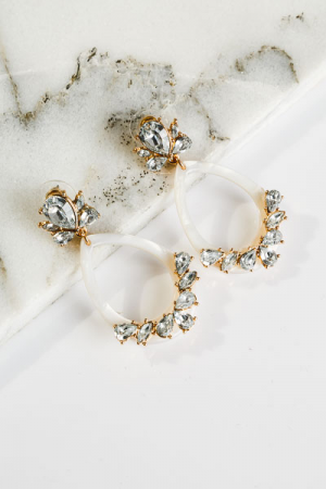 Ivory Glitz Earrings
