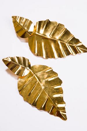Double Leaf Earring