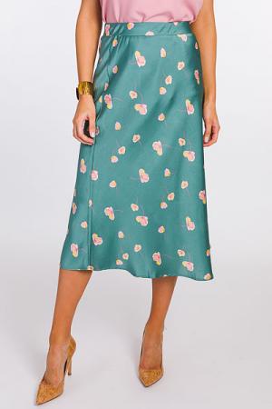 Falling Flowers Midi Skirt