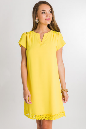 Lemon Drop Belted Dress