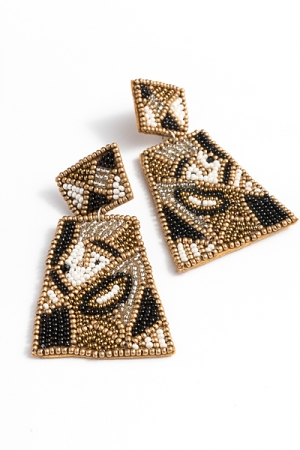 Pop Art Earring, Gold