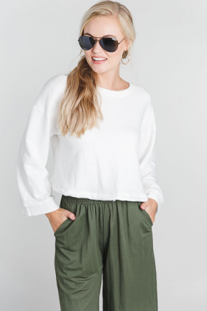 Cropped Sweatshirt Top