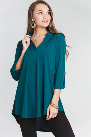 Stretchy Smooth Tunic, Green