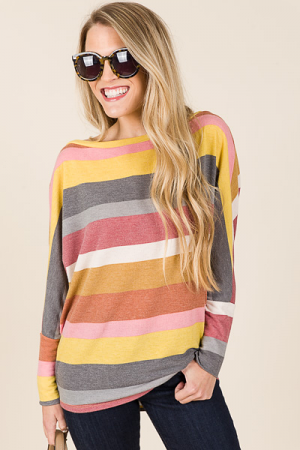 Sling Shoulder Stripe Top