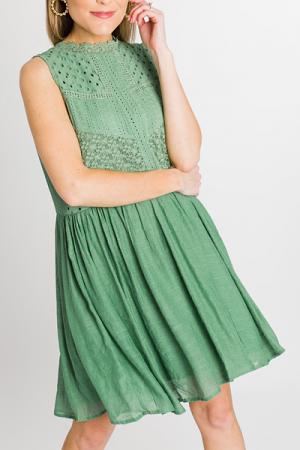 Green Girl Crochet Dress